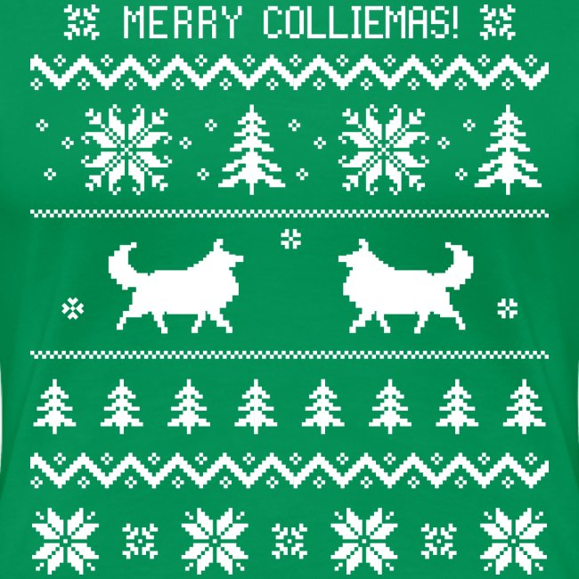 Merry Colliemas - Womens Plus Size T-shirt