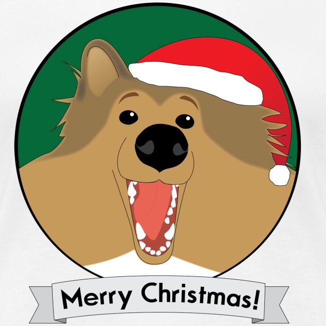 Holly the Collie Christmas - Womens Plus Size T-shirt