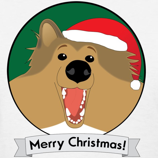Holly the Collie Christmas - Womens T-shirt