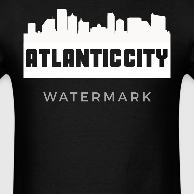 Atlantic City New Jersey Skyline Silhouette - Men's T-Shirt