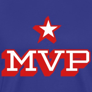 MVP Red & White on Royal Blue T-shirt - Men's Premium T-Shirt