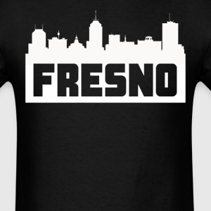 Fresno California Skyline Silhouette - Men's T-Shirt
