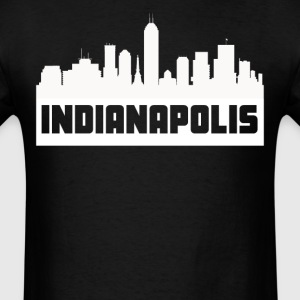 Indianapolis Indiana Skyline Silhouette - Men's T-Shirt