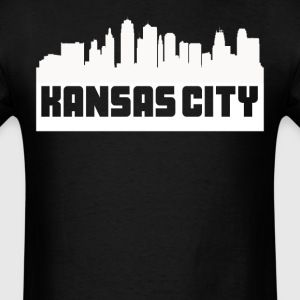 Kansas City Missouri Skyline Silhouette - Men's T-Shirt