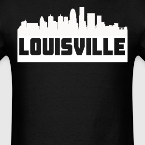 Louisville Kentucky Skyline Silhouette - Men's T-Shirt