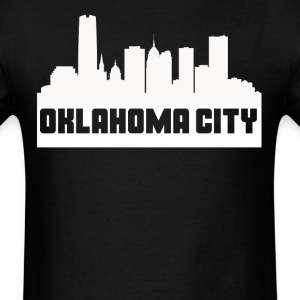Oklahoma City Oklahoma Skyline Silhouette - Men's T-Shirt