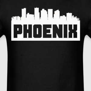 Phoenix Arizona Skyline Silhouette - Men's T-Shirt