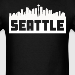 Seattle Washington Skyline Silhouette - Men's T-Shirt