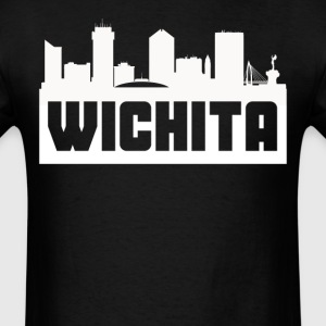 Wichita Kansas Skyline Silhouette - Men's T-Shirt