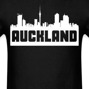 Auckland New Zealand Skyline Silhouette - Men's T-Shirt