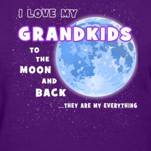 Grandma - Grandkids To The Moon And Back T-Shirts - Women's T-Shirt