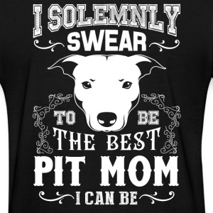 Pit Bull - I Solemnly Swear Pit Mom T-Shirts - Women's T-Shirt
