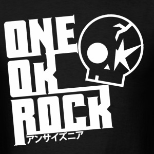 One_ok_rock_skull_white - Men's T-Shirt