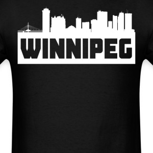 Winnipeg Manitoba Skyline Silhouette - Men's T-Shirt