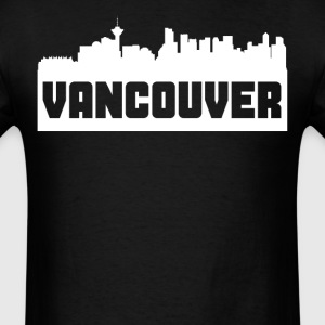 Vancouver British Columbia Skyline Silhouette - Men's T-Shirt