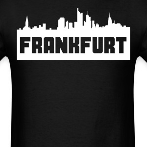 Frankfurt Germany Skyline Silhouette - Men's T-Shirt