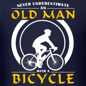 Cycling - Never Underestimate An Old Man With A Bi T-Shirts - Men's T-Shirt