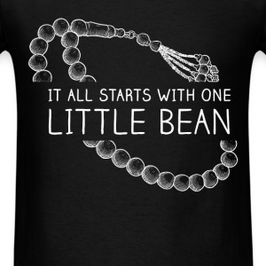 It all starts with one little bean - Men's T-Shirt