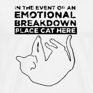 EmotionalBreakdownCat.png T-Shirts - Men's Premium T-Shirt