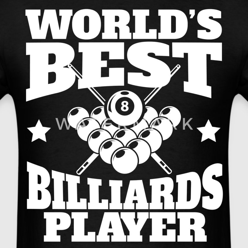 World's Best Billiards Player Retro Pool - Men's T-Shirt