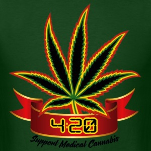 support_medical_cannabis_420 - Men's T-Shirt