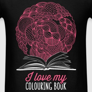 I love my colouring book - Men's T-Shirt