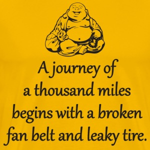 A Journey Of A Thousand Miles T-Shirts - Men's Premium T-Shirt