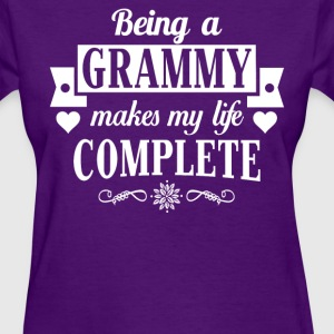 Being a Grammy  makes my life complete  - Women's T-Shirt