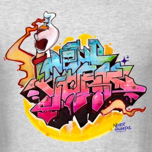 Hideout - Design 2 for New York Graffiti Color Log - Men's T-Shirt