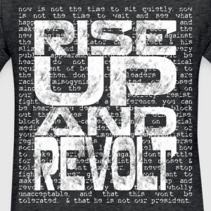 Rise Up and Revolt [2] Men's Fitted T-shirt - Fitted Cotton/Poly T-Shirt by Next Level
