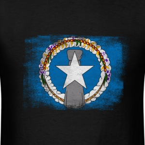 Northern Mariana Islands State Flag Distressed Vin - Men's T-Shirt