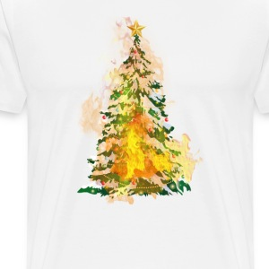 burning_christmas_ - Men's Premium T-Shirt