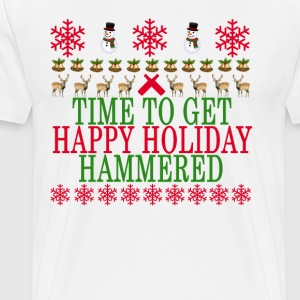 time_to_get_happy_holiday_hammered_ - Men's Premium T-Shirt