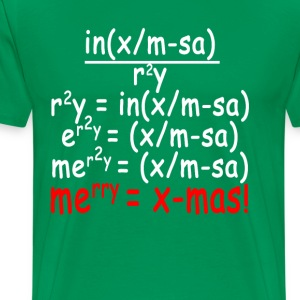 math_equation_merry_christmas_ - Men's Premium T-Shirt