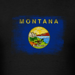 Montana State Flag Distressed Vintage - Men's T-Shirt