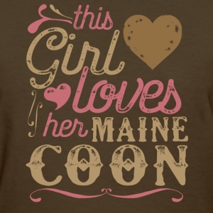 This Girl Loves Her Maine Coon Cat T-Shirts - Women's T-Shirt