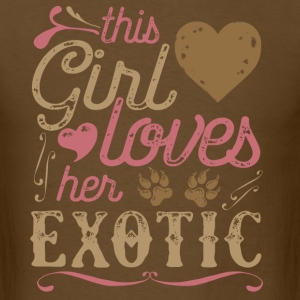 This Girl Loves Her Exotic Cat T-Shirts - Men's T-Shirt