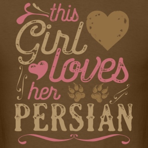 This Girl Loves Her Persian Cat T-Shirts - Men's T-Shirt