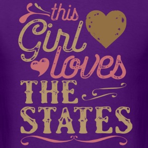 This Girl Loves The States T-Shirts - Men's T-Shirt