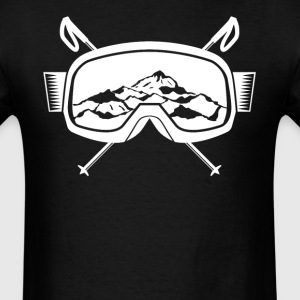 Mountain Ski Goggles Skiing - Men's T-Shirt