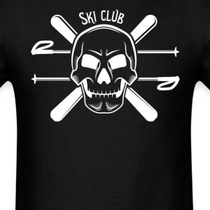 Ski Club Skull Skiing - Men's T-Shirt