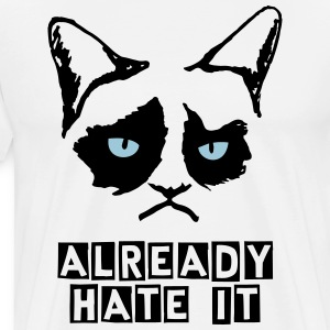 Unhappy Cat T-Shirts - Men's Premium T-Shirt