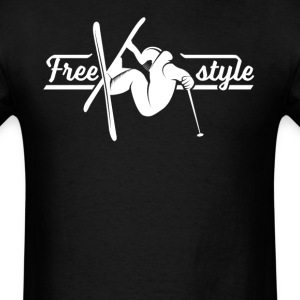 Freestyle Skier Skiing - Men's T-Shirt