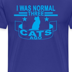 i_was_normal_three_cat_ago_ - Men's Premium T-Shirt