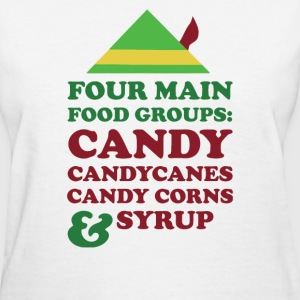 Four Main Christmas Food - Women's T-Shirt