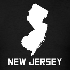 New Jersey State Silhouette - Men's T-Shirt