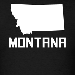 Montana State Silhouette - Men's T-Shirt