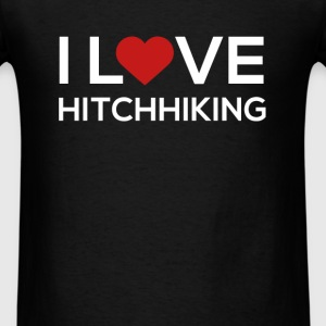 I love Hitchhiking - Men's T-Shirt