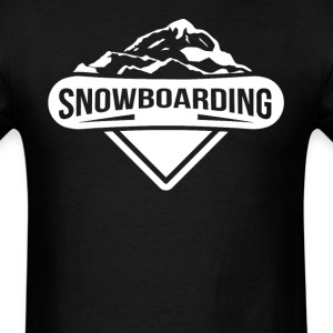 Snowboarding Mountains Logo Snowboarder - Men's T-Shirt