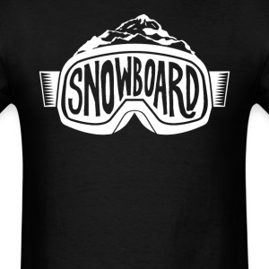 Snowboard Mountain Goggles Snowboarding - Men's T-Shirt